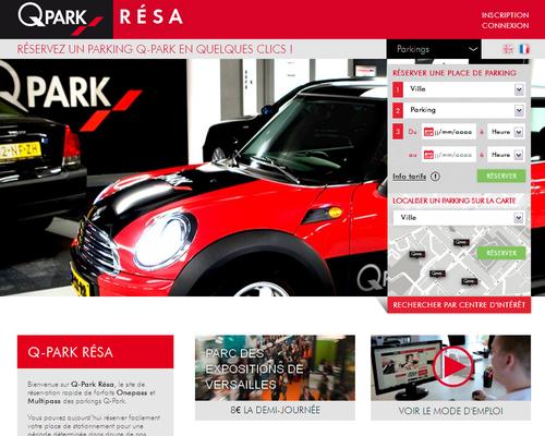 q park resa un site pour r server une place de parking en ville immobilier ressources et. Black Bedroom Furniture Sets. Home Design Ideas